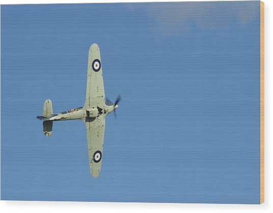 Hurricane In Action Wood Print by Donald Turner