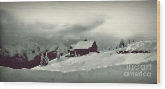 Hurricane Ridge By Steve Strand Wood Print