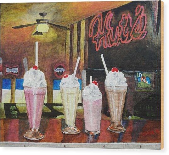 Hut's Milkshake Heaven Wood Print