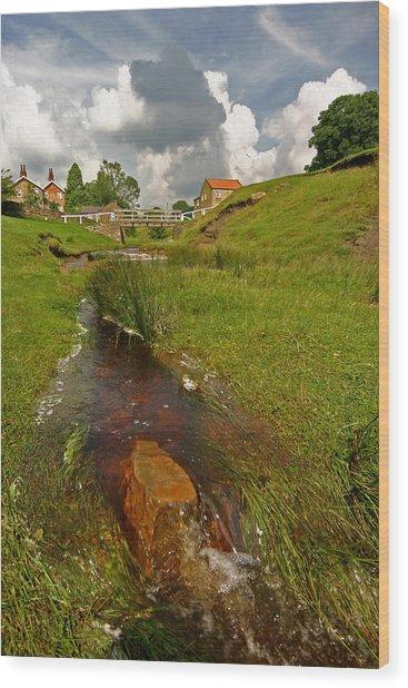 Hutton Beck  Wood Print