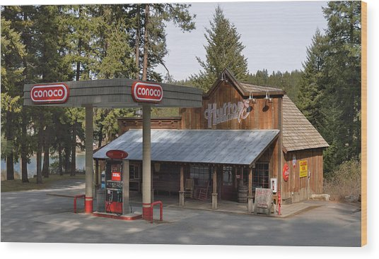Huttons General Store Wood Print