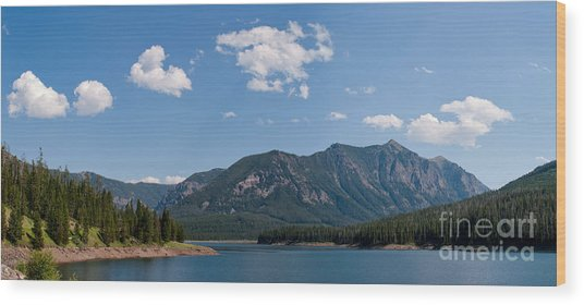 Hyalite Reservoir -- South View Wood Print