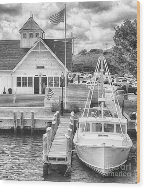 Hyannis The Coastguard's Cutter Wood Print
