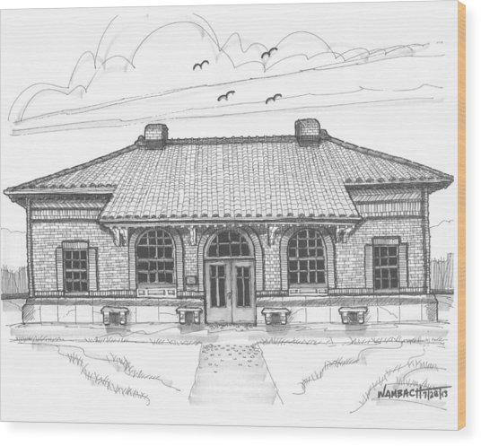 Hyde Park Historic Train Station Wood Print