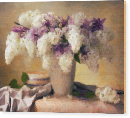 Hydrangea Summer Display Wood Print