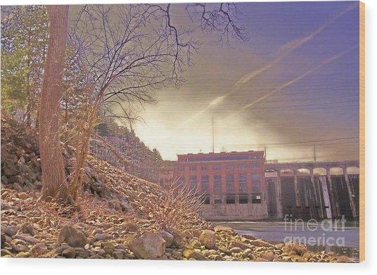 Hydro Electric Dam  N Wood Print