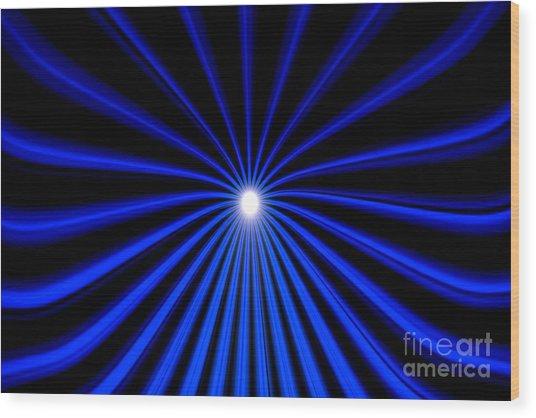 Hyperspace Blue Landscape Wood Print