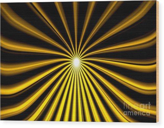 Hyperspace Gold Landscape Wood Print