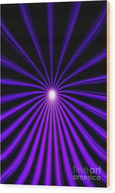 Hyperspace Violet Portrait Wood Print