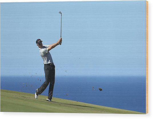 Hyundai Tournament Of Champions - Round Two Wood Print by Andy Lyons