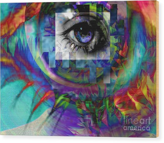 I Abstract Wood Print