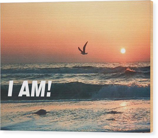 The Great I Am  Wood Print
