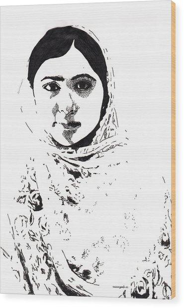 I Am Malala. Wood Print