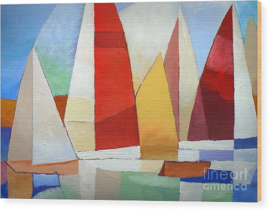 I Am Sailing Wood Print