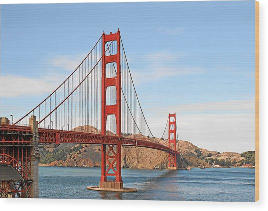 I Guard The California Shore - Golden Gate Bridge San Francisco Ca Wood Print