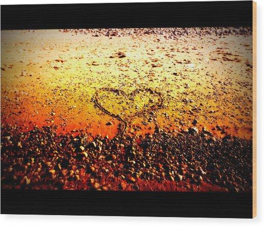 I Heart You Wood Print