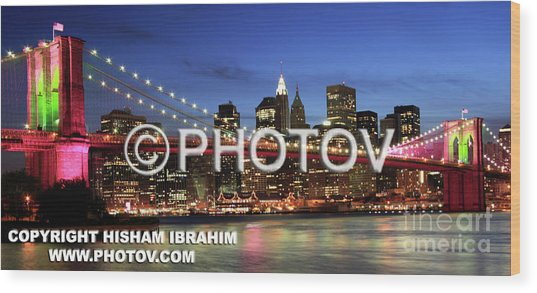 I Love New York -  Limited Edition Wood Print by Hisham Ibrahim