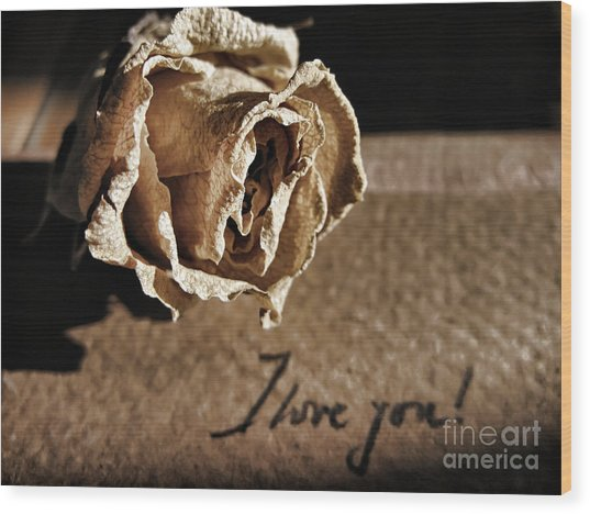 I Love You Letter Wood Print