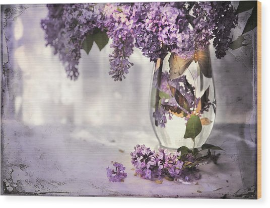 I Picked A Bouquet Of Lilacs Today Wood Print