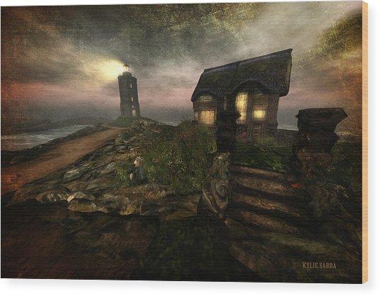 I Stand Alone On An Emerald Isle Wood Print