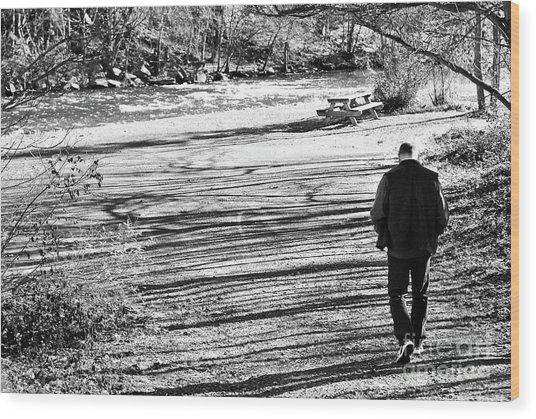 I Walk Alone Wood Print