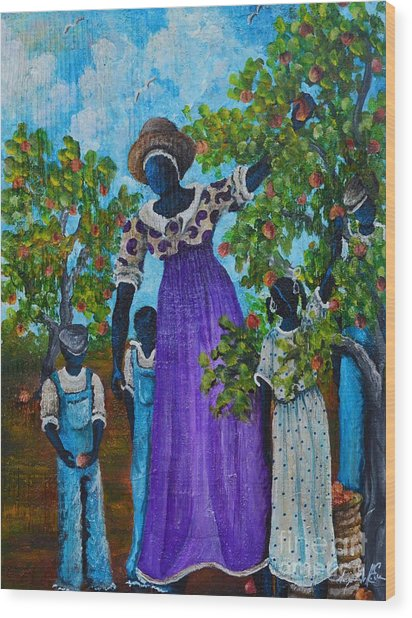 I Want A Peach Wood Print by Sonja Griffin Evans