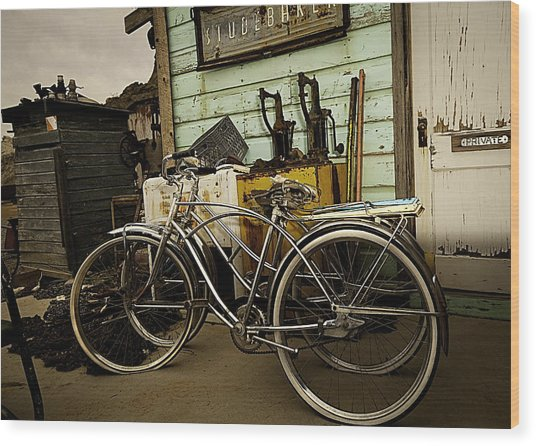 Wood Print featuring the photograph I Want To Ride My Bicycle 2 by James Sage