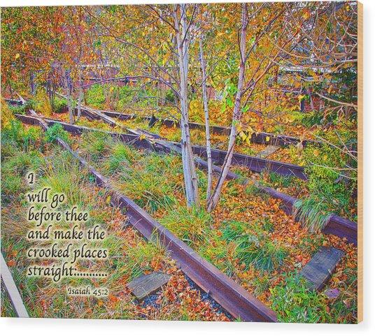 I Will Follow Lord Wood Print