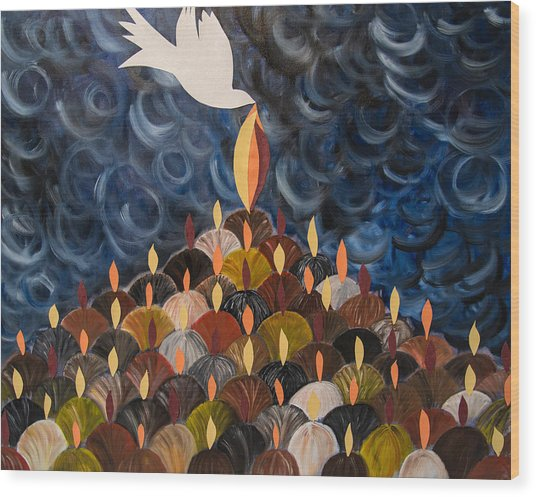 I Will Pour Out My Spirit On All My People Wood Print by Marianne Gonzales