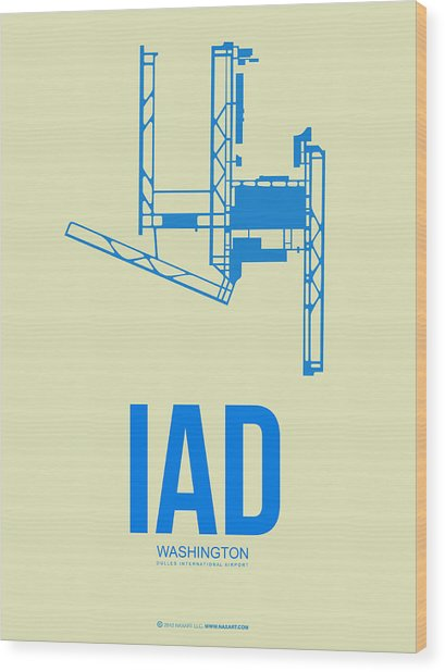 Iad Washington Airport Poster 1 Wood Print