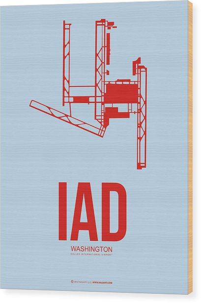Iad Washington Airport Poster 2 Wood Print