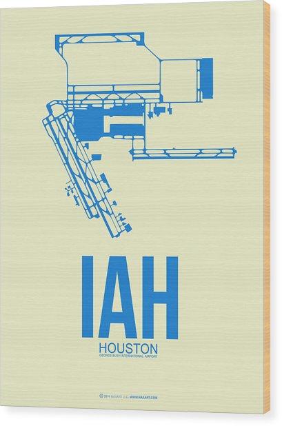 Iah Houston Airport Poster 3 Wood Print
