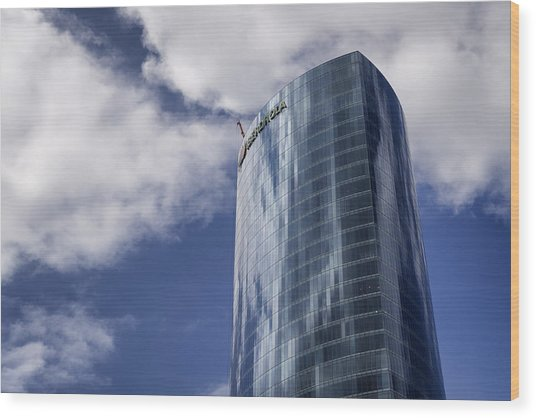 Iberdrola Tower Wood Print
