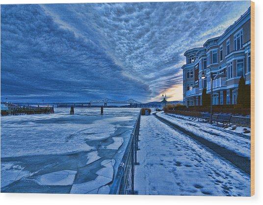 Ice Station Hudson Wood Print