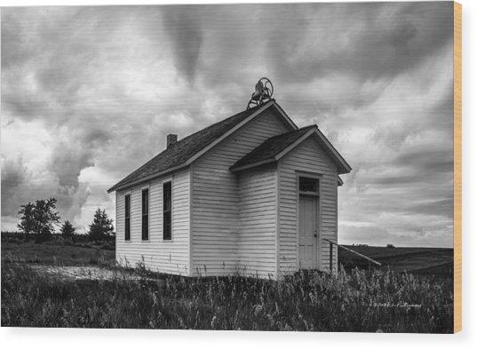 Icarian Schoolhouse Wood Print