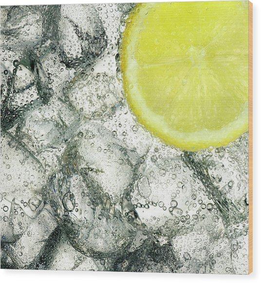 Ice And Lemon Wood Print by Anthony Bradshaw