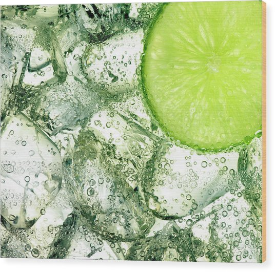 Ice And Lime Wood Print by Anthony Bradshaw