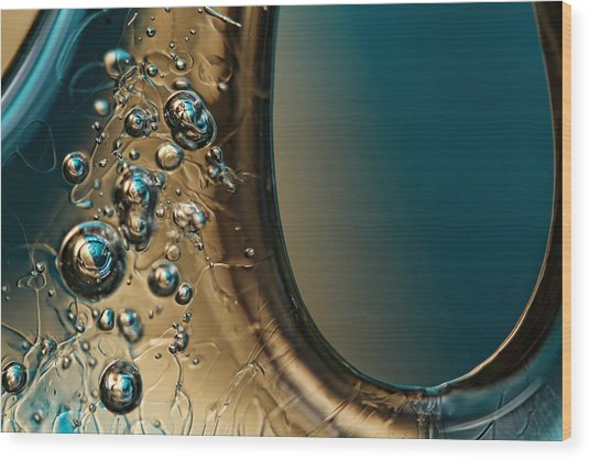 Ice Blue Wood Print