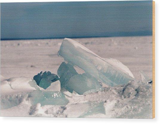 Ice Wood Print by Brady D Hebert