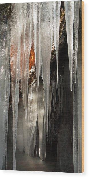 Ice Cave Wood Print