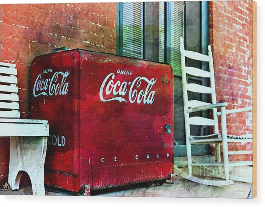 Ice Cold Coca Cola Wood Print