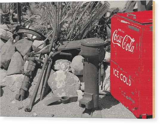 Ice Cold Drink Wood Print