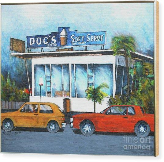 Ice Cream Restaurant In Delray Beach Fl Wood Print