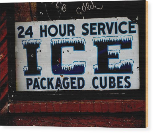 Ice For Sale Wood Print by Steven Parker