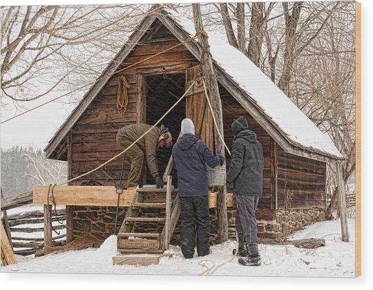 Ice House Wood Print
