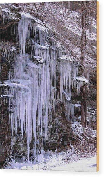 Ice I Wood Print