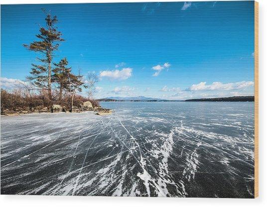 Ice Land Wood Print
