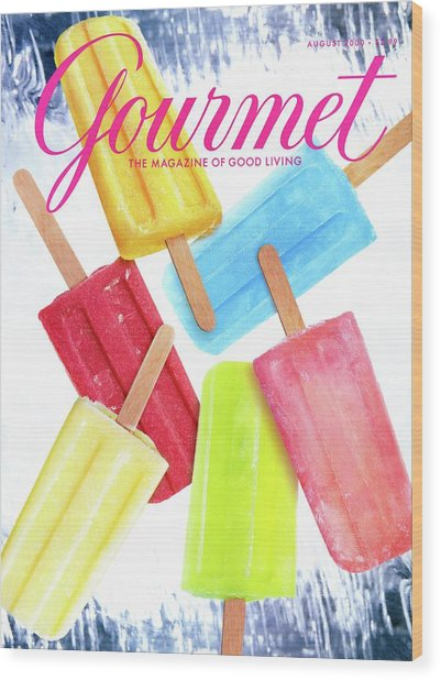 Ice Pops Wood Print
