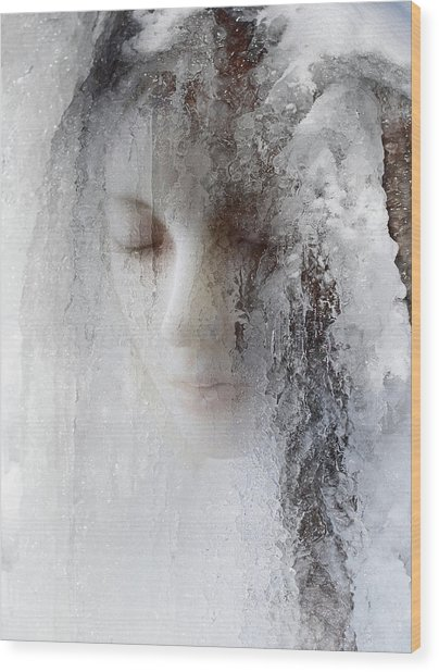 Ice Queen Wood Print