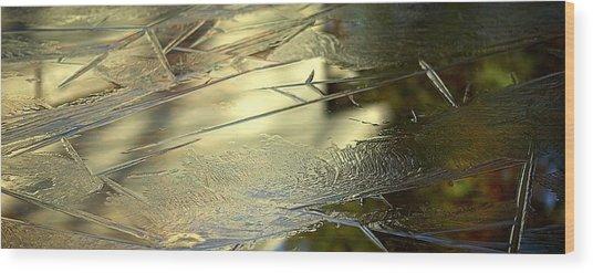 Ice Skin Wood Print